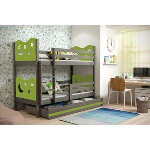 Dětská patrová postel MIKO 160x80 cm Bílá Bílá