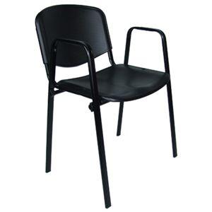 Konferenční židle ISO plastová s područkami RAL-5002