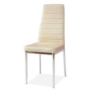 Židle H-261 krém/chrom