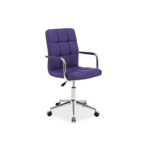 Kancelářské křeslo Q-022 fialové