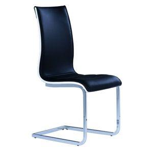 Jídelní židle H-133 černá/bílé boky a záda
