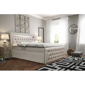 Čalouněná postel CESAR včetně úložného prostoru 160x200 Černá
