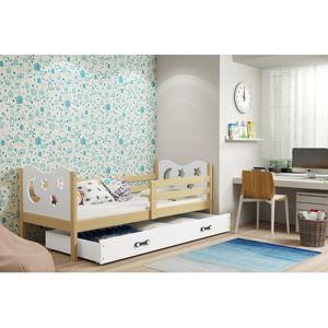 Dětská postel MIKO 190x80 cm Modrá Borovice