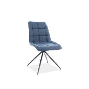 Židle CHIC II černá/modrá