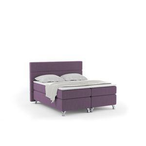 Čalouněná postel IMPERIA včetně úložného prostoru 180x200 Fialová