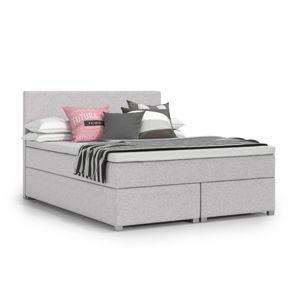 Čalouněná postel VIERA II včetně úložného prostoru 160x200 Světle Šedá